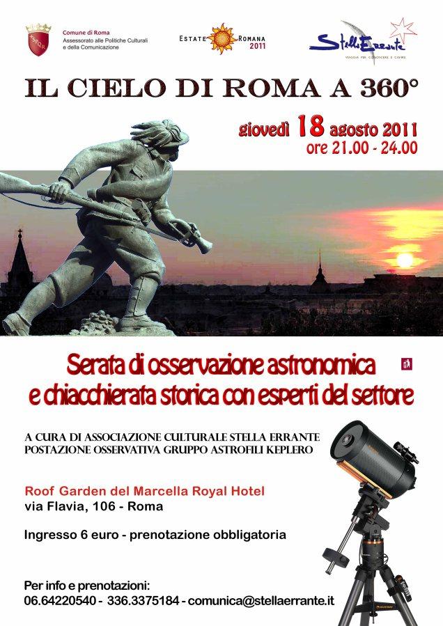 Serata astronomica : il cielo di Roma a 360 gradi