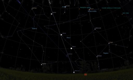 Allineamento Luna, Venere, Giove del 24 Febbraio 2012