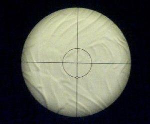 Visione del campo da un cercatore polare