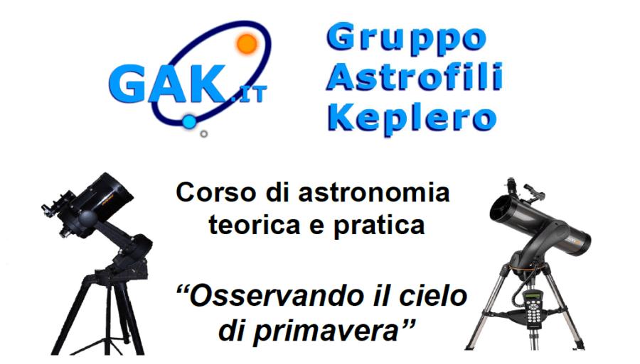 """Locandina corso GAK 2012-2013 """"Osservando il cielo di primavera"""""""