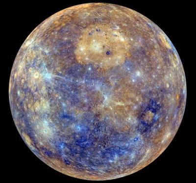 La mappa di Mercurio scattata dalla sonda Messenger