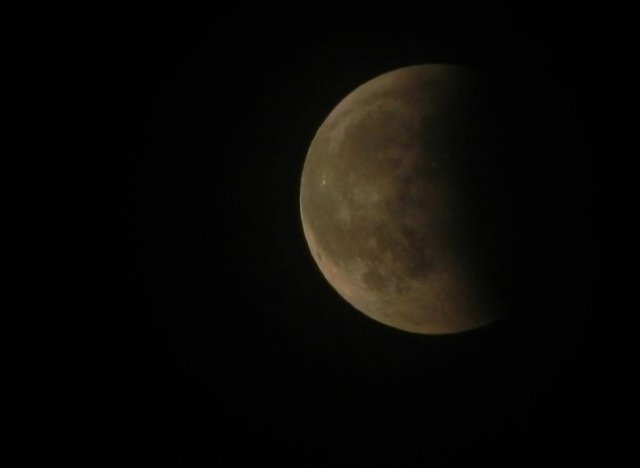 L'eclissi di Luna del 15/6/11 fotografata da Magonza (Germania). Foto inviataci da M. Leonardi