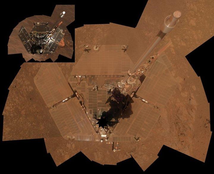 10 anni su Marte per il rover Opportunity. Confronto dello stato dei pannelli solari.