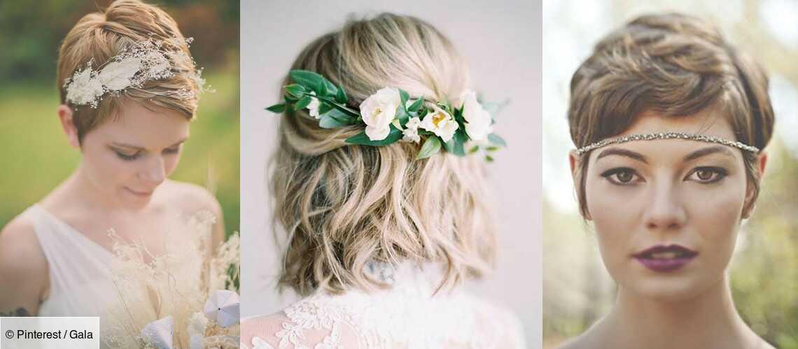 mariage pour cheveux courts