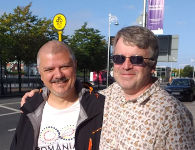 Darius Hupov (left) and Andrew Chamberlain in Dublin, 2019
