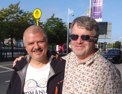 Darius Hupov (left) and Andrew Chamberlain in Dublin, 2019