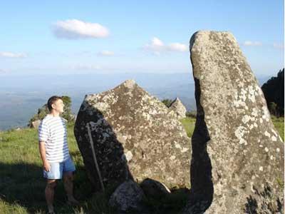 Founder of Adam's Calendar, Johan Heine, examines the leading monolith