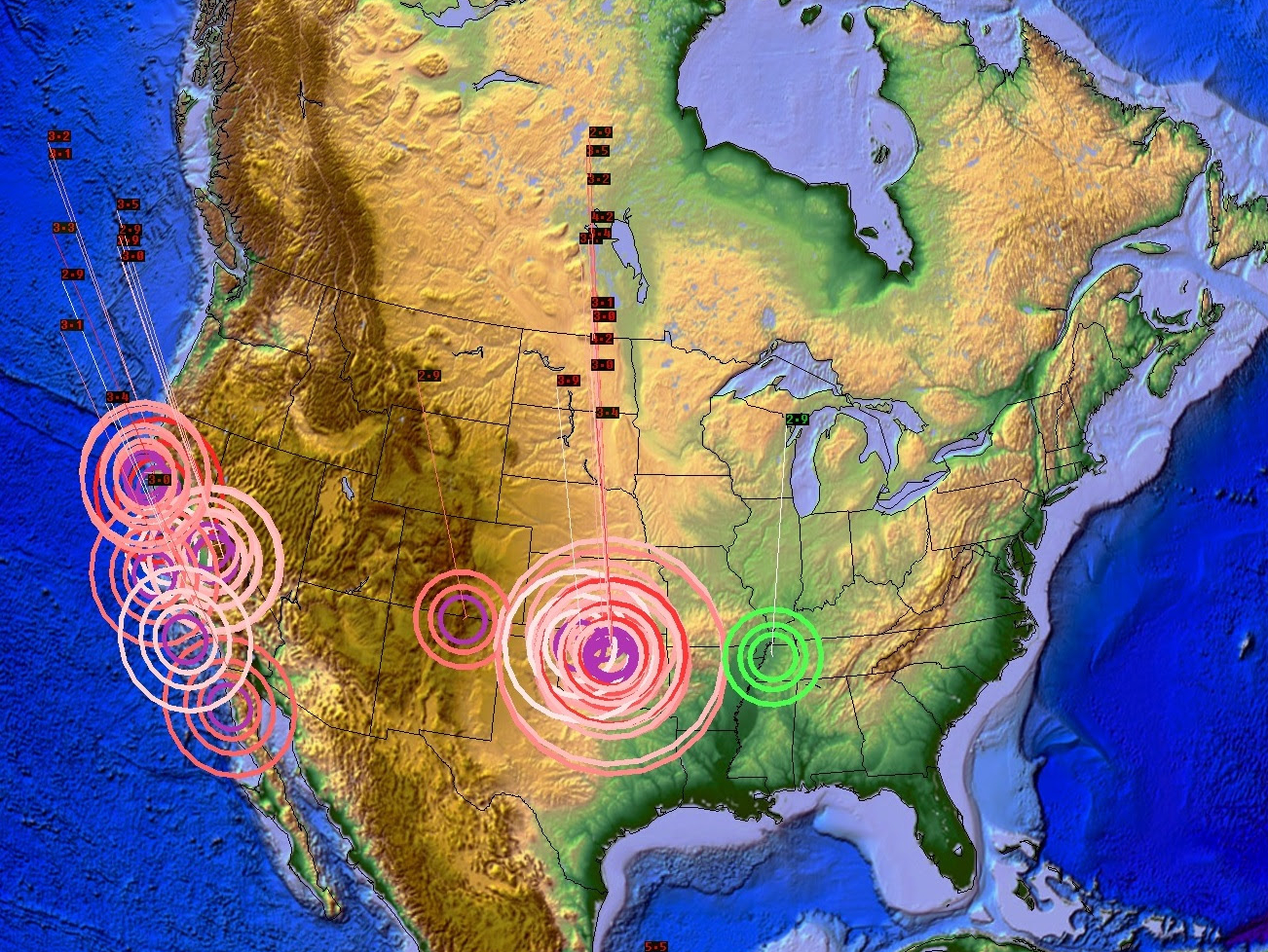 Whole North American Craton Moves In 24 Hours Time New Madrid Earthquake Swarm