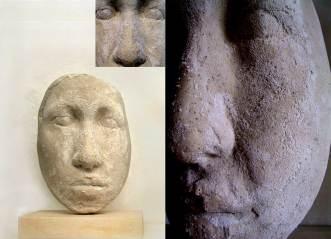 """"""" testa salifera"""" - 2009, cm 42x30x20, plaster and salt"""