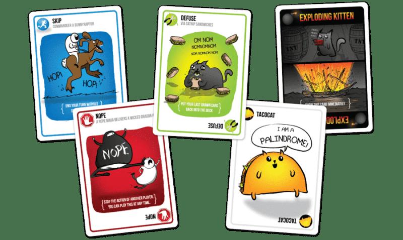 exploding kittens card exaples