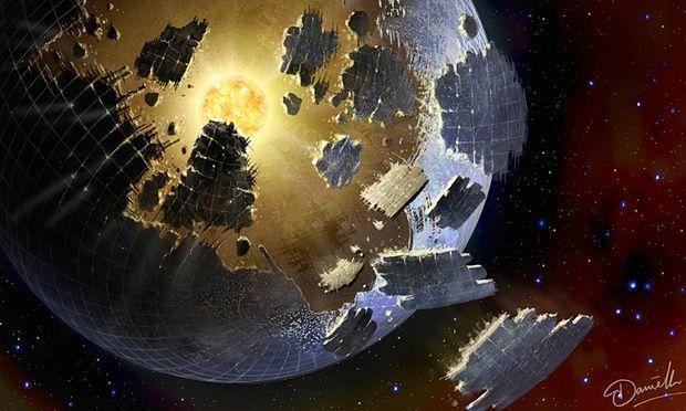 Mesterséges eredetű megastruktúrák elhaladása a csillag előtt? (Ugyancsak elképzelés.)