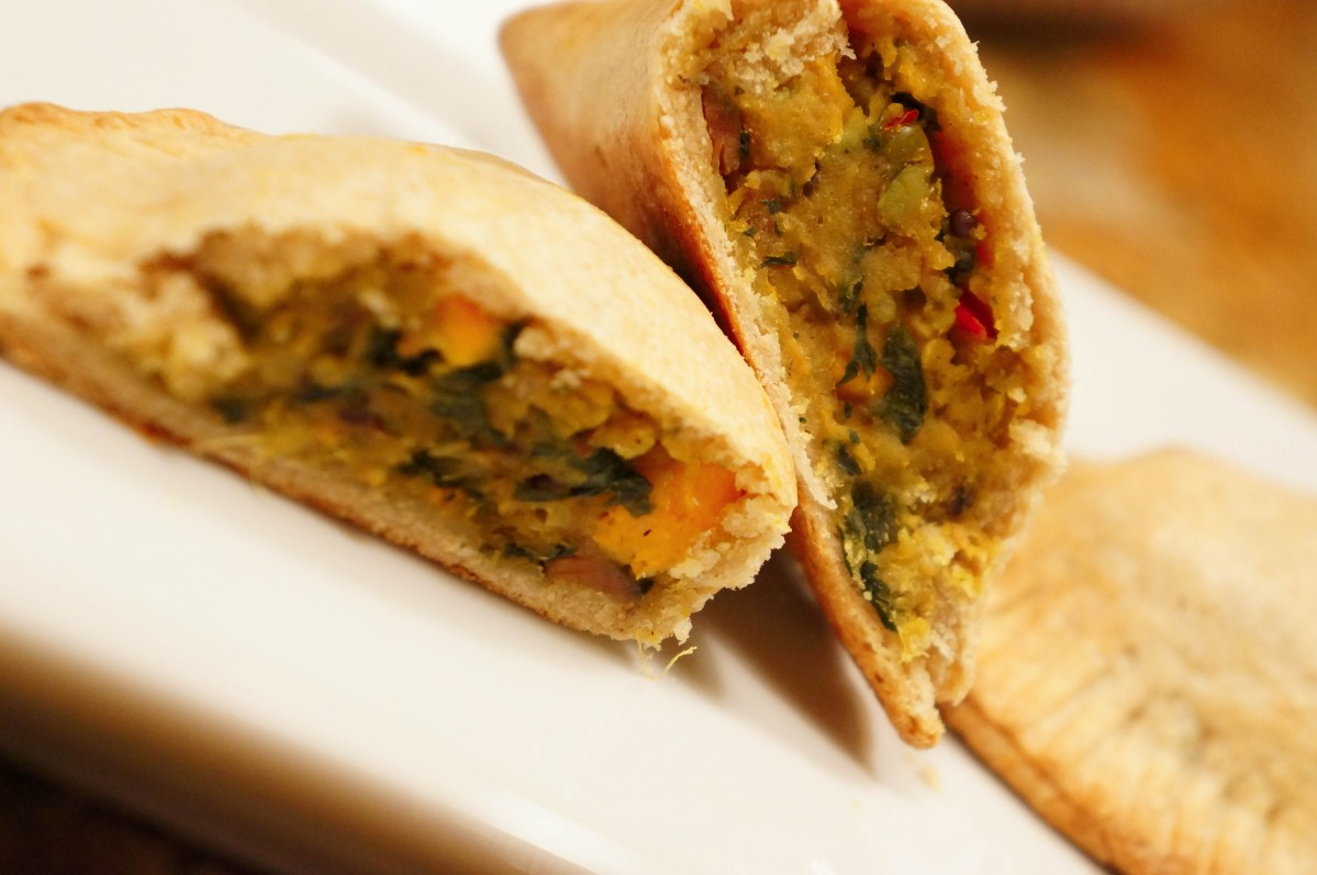 Indian Style Empanadas with Tomato-Apricot Chutney