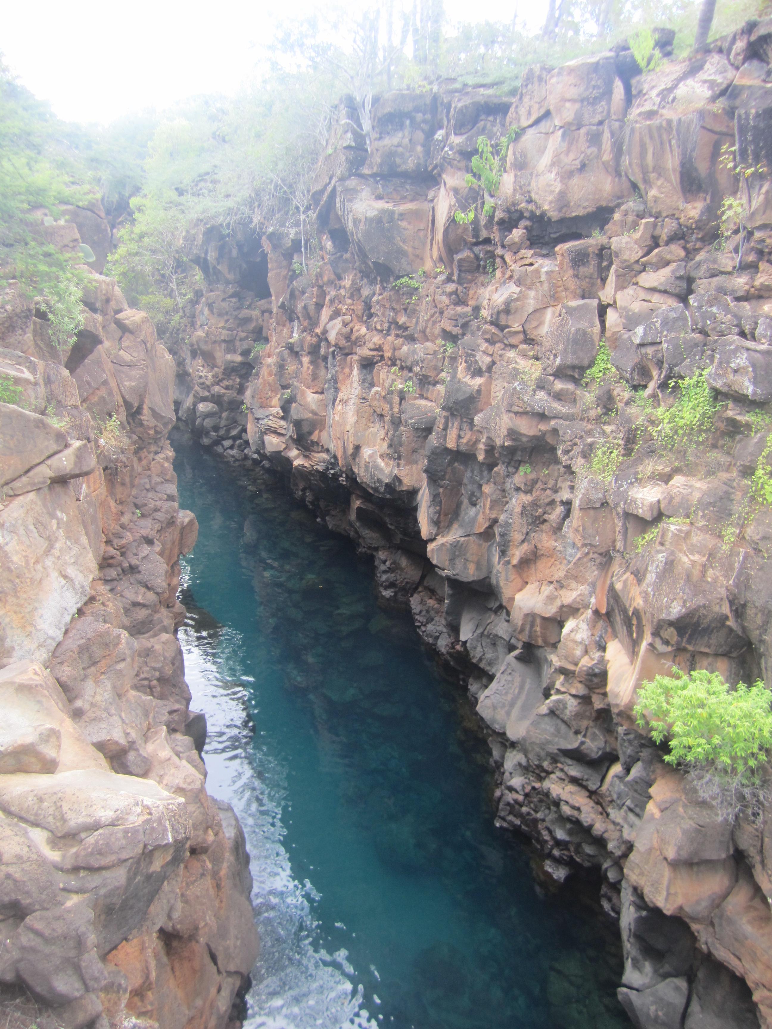 Las Grietas Swimming Canyon In Galapagos