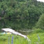 Chalet sur le bord du lac