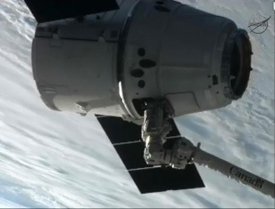Dragon attached to Iss