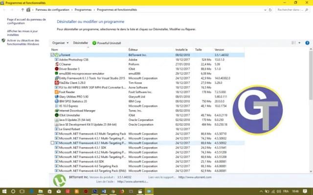 Désinstaller Un logiciel complètement sous Windows