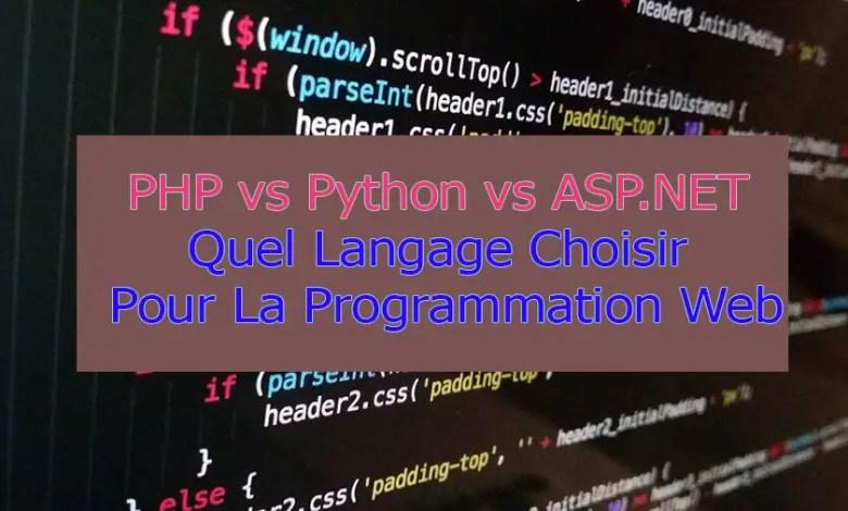PHP vs Python vs ASP.NET: Choisir Un Langage de Programmation Web - GalaTruc