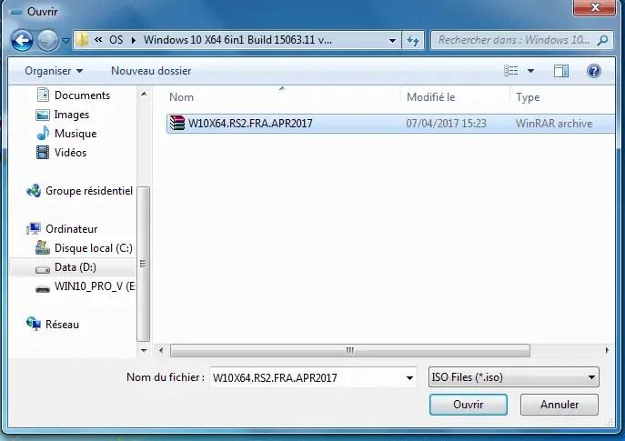 Choisissez une le système d'exploitation pour la création d'un flash disk Bootable