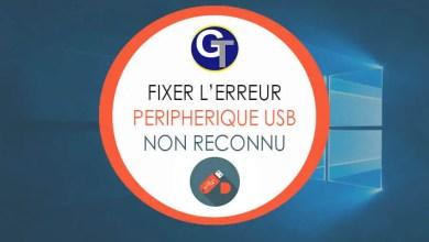 Photo of Périphérique USB Non Reconnu : 5 Méthodes Pour Résoudre L'Erreur Windows