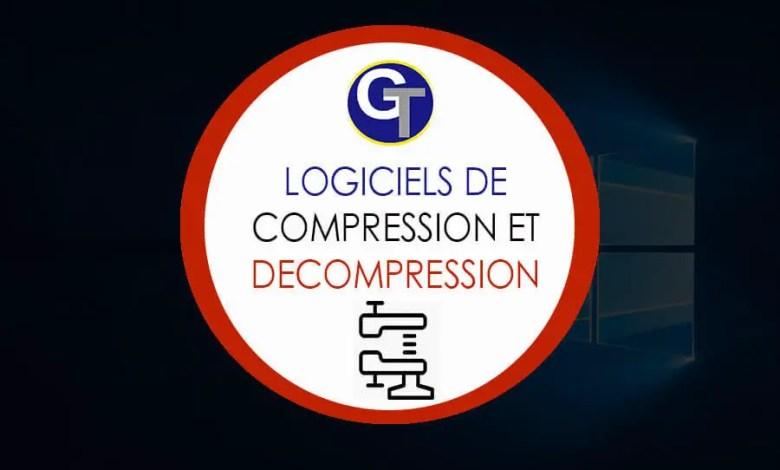 logiciels de compression, décompressions et archivage