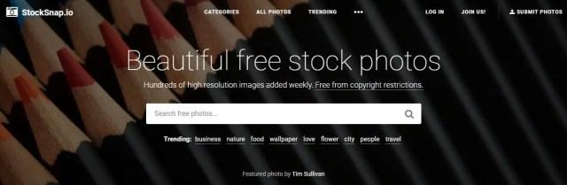 Stocksnap.io permet aussi de trouver des images libres de droit