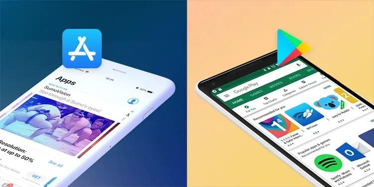 Les applications disponibles iOS vs Android