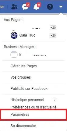 Supprimer un compte FB