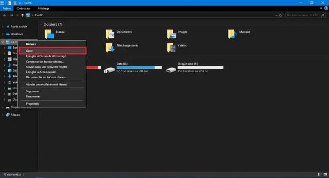 Etape 1 : Comment partitionner un disque dur externe ou interne sous Windows