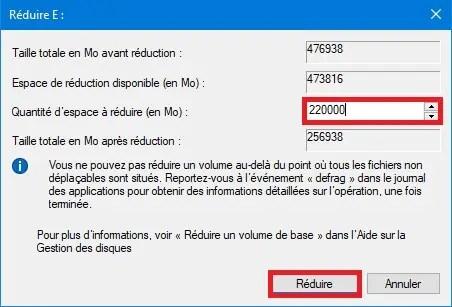 Etape 3 : Comment créer une partition de disque dur sous Windows