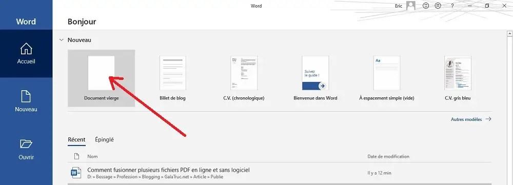 Comment fusionner plusieurs fichiers pdf avec Microsoft Word