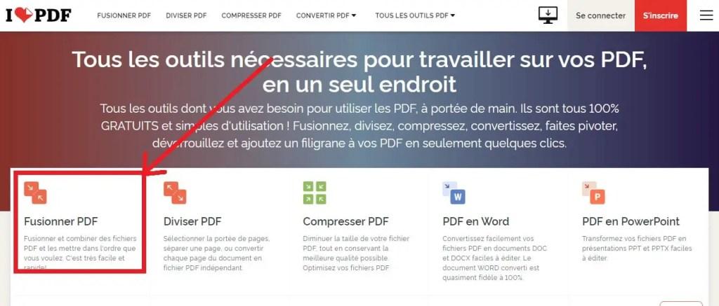 Utiliser un site web en ligne pour fusionner les fichiers PDF