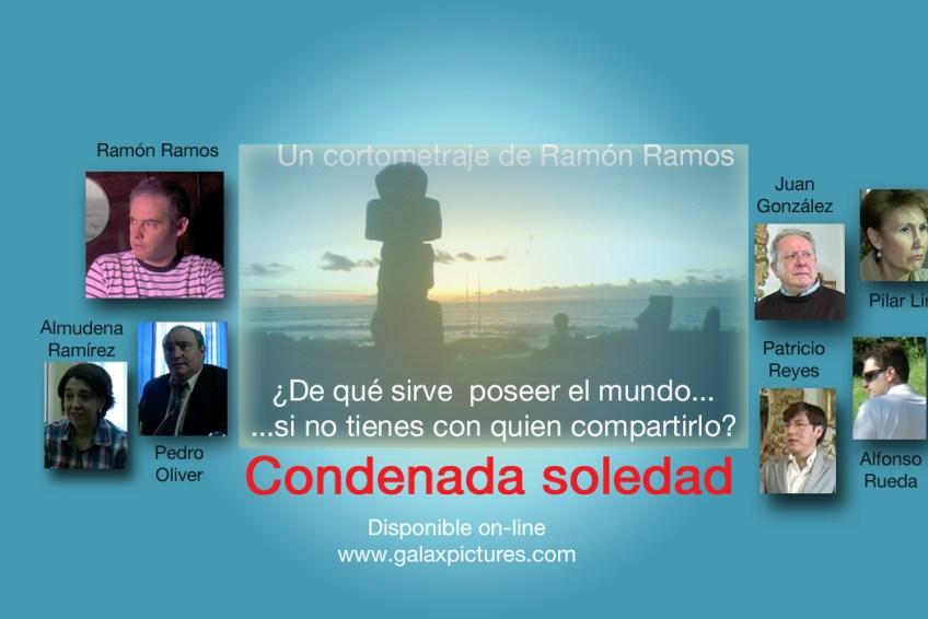 Cartel horizontal del cortometraje de ficción Condenada soledad.