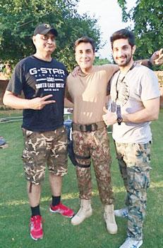 Left to right - Hassan Waqas Rana, Adnan Siddiqui and Bilal Ashraf