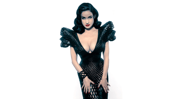 Dita Von Teese, you really are a tease
