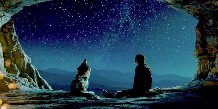 Alpha and Keda look up at the stars