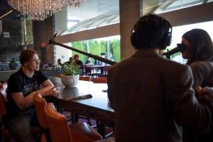 Ville being interviewed