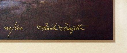 Frazetta signature on lithographic print