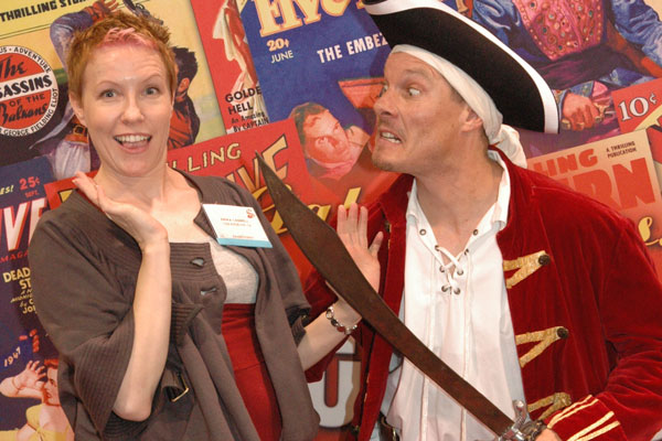 Pirate at the 2008 American Library Association show