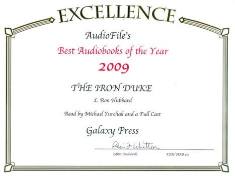 The Iron Duke Best Audiobook of the Year 2009