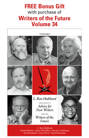 Free Bonus Gift with purchase of Writers of the Future Volume 34