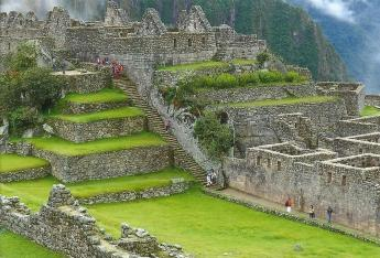 Terraces and the largest courtyard of Macchu Picchu