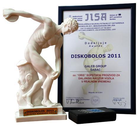 Nagrada DISKOBOLOS 2011 za ORIS 11