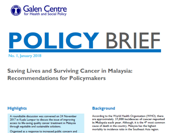 Policy Brief: Saving Lives and Surviving Cancer in Malaysia ...