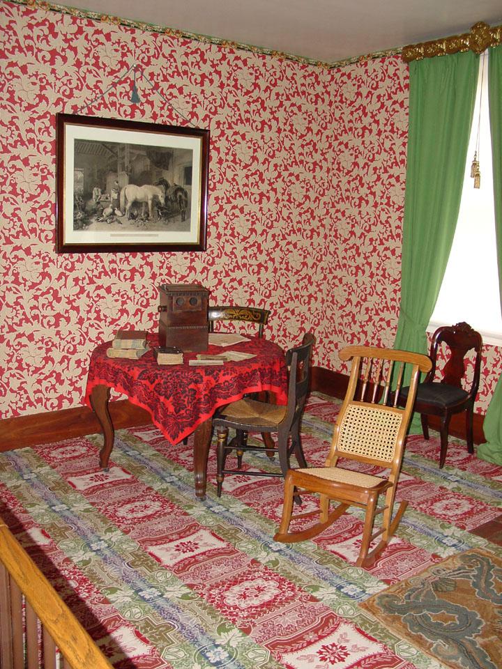 Interior Of Lincolns Home In Springfield Illinois