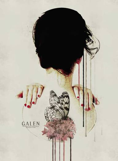 Backage - Contemporary Portrait Art Print by Galen Valle