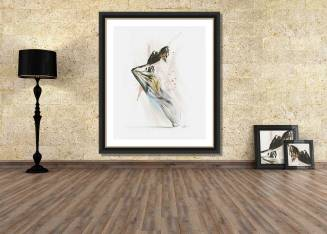 Drift - framed contemporary dance wall art by Galen Valle