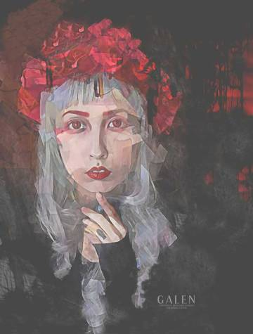 Petal - Gothic Portrait Art Print by Galen Valle