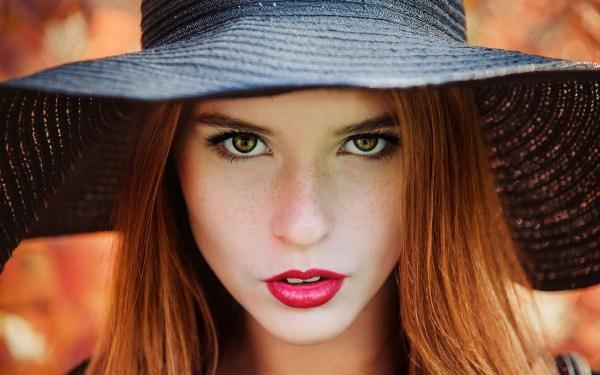 Девушка в черной шляпе - Девушки - Обои на рабочий стол ...