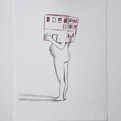 Déshabillant_la_maison1_24x32_Lápiz y tinta sobre papel