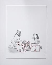 Déshabillant_la_maison6_24x32_Lápiz y tinta sobre papel
